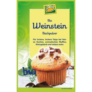 Bio Weinstein Backpulver  25,5